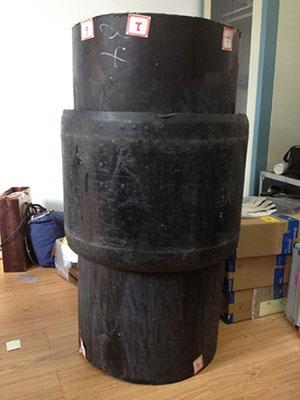 江苏联冠DN500含超高分子聚乙烯内衬钢丝缠绕增强复合管接头检测